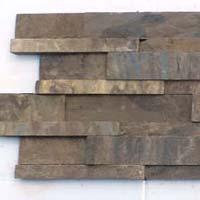 Vijaya Gold 4 Lines Design Slate Stone