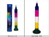 Colored Candles with Stand