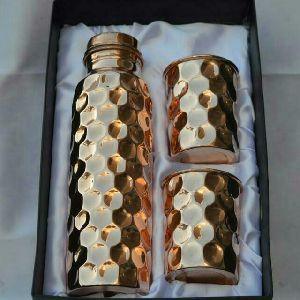 Copper Bottle & Glass Set 01