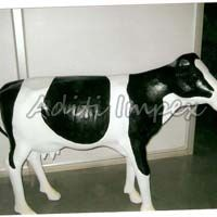 Handicraft Leather American Cow Sculpture