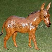 Handicraft Leather Donkey Sculpture