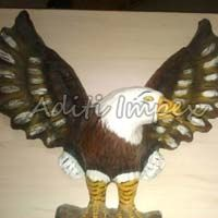 Handicraft Leather Eagle Sculpture