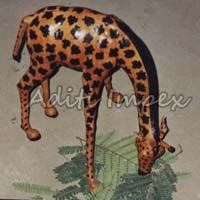 Handicraft Leather Giraffe Sculpture