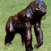 Handicraft Leather Gorilla Sculpture
