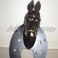Handicraft Leather Horse Sculpture