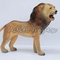 Handicraft Leather Lion Sculpture