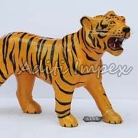 Handicraft Leather Tiger Sculpture