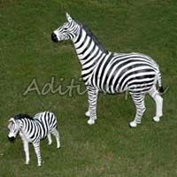 Handicraft Leather Zebra Sculpture