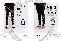 Printed Ankle Legging - Cristy & Ribbon