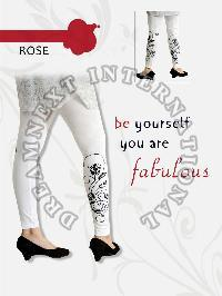 Printed Ankle Legging - Rose
