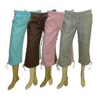 Ladies Cotton Capris