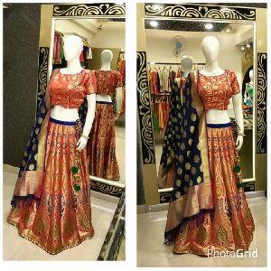 Banarasi Silk Lehenga 11