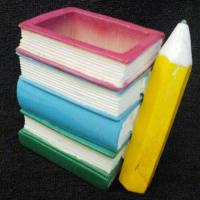 Book & Pencil Shaped Pen Stand