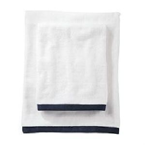 Black Border White Bath Towels