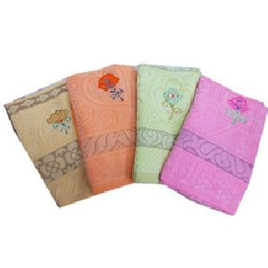 Embroidered Bath Towels