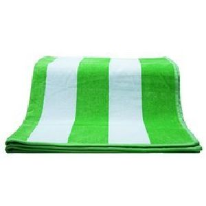 Green and White Striped Cabana Beach Towels
