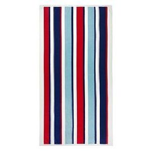 Multicolored Striped  Bath Towels