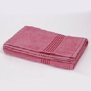 Red and Pink Bath Towels