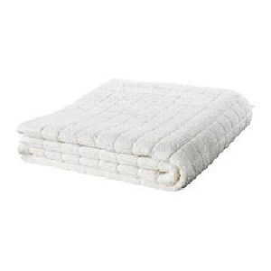 White Checkered Bath Towels
