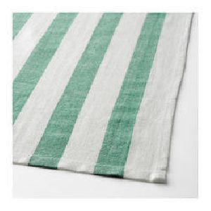 Green & White Bold Striped Bath Towels