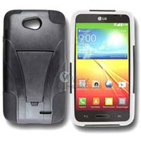 3 In 1 Black LG L70 Dual D325 Mobile Case