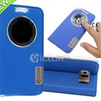 Blue Leather Samsung Galaxy S6/G920 Mobile Case