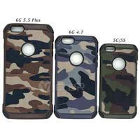 Hybrid Camouflage Separable iPhone Mobile Case