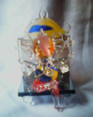 Glass Ganesha Statue