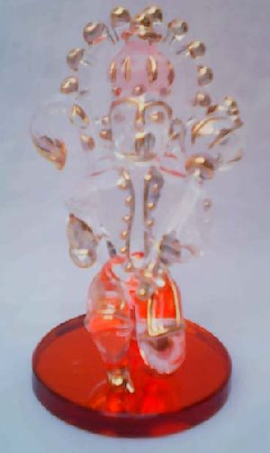 Glass Hanuman Statue