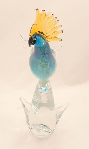 Glass Parrot Statue