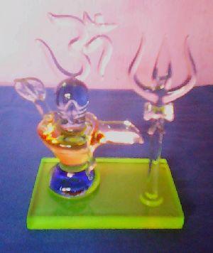 Glass Shivling Statue