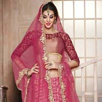 Designed Lehenga Choli with Artistic Embroidery and Designer Blause