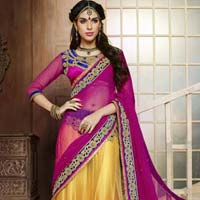Yuthfull Yellow Designer Lehenga with Heavy Floral Worked