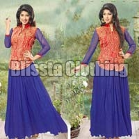 Blue Exclusive Chiffon Gown