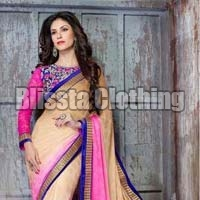 Embroidered Multi Color Party Wear Saree