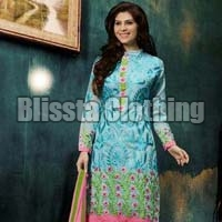 Light Blue Embroidered Suit