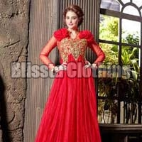 Red Gorgeous Anarkali Gown