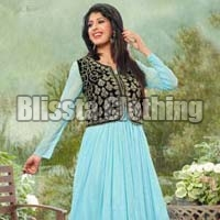 Sky Blue Fashionable Gown