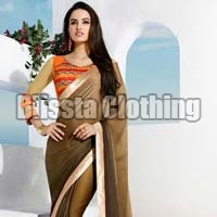 Designer Double Shaded Saree