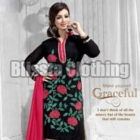 Flower Embroidered Dress Material