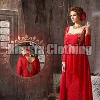 Red Western Wedding Gown