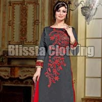 Stylish Embroidered Evening Dress