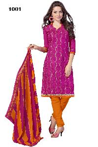 1001 Cadbury Designer Silk Churidar Suit
