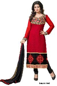 Tarzen Red Designer Churidar Suit