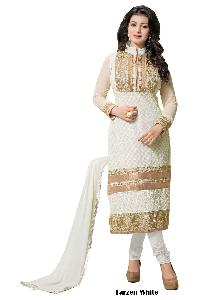 Tarzen White Designer Churidar Suit