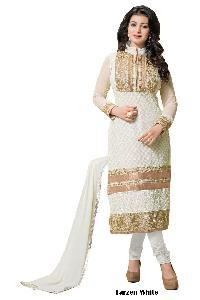 Tarzen White Designer Churidar Suit