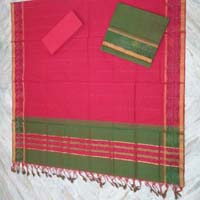 Mangalagiri Silk Unstitched Suit