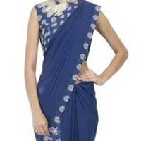 Latest Stylish Georgette Designer Saree with Blue Color-9248