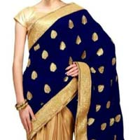 Designer Saree with Blue Color