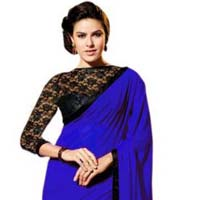 Latest Stylish Georgette Designer Saree with Blue Color - 9194b